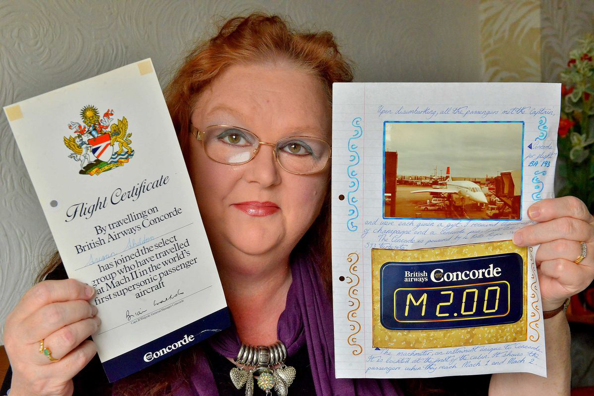 Sue Adams produced a journal recollecting her flight on Concorde in 1983