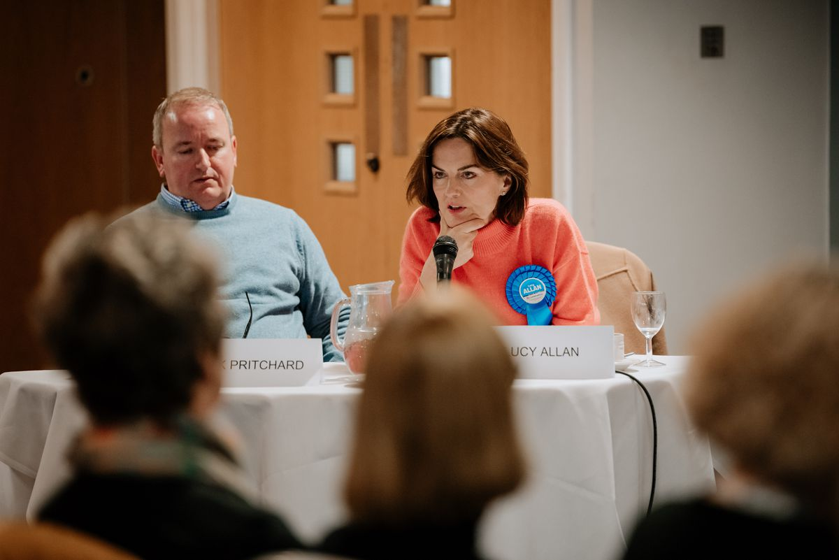 Mark Pritchard and Lucy Allan from the Conservatives