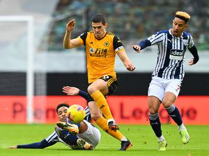 Matheus Pereira of West Bromwich Albion and Conor Coady of Wolverhampton Wanderers. (AMA)