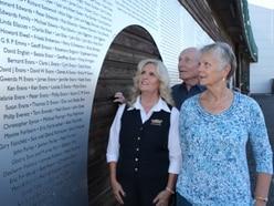 Metal wall installed at Severn Valley Railway bearing names of donors to bridge repair fund