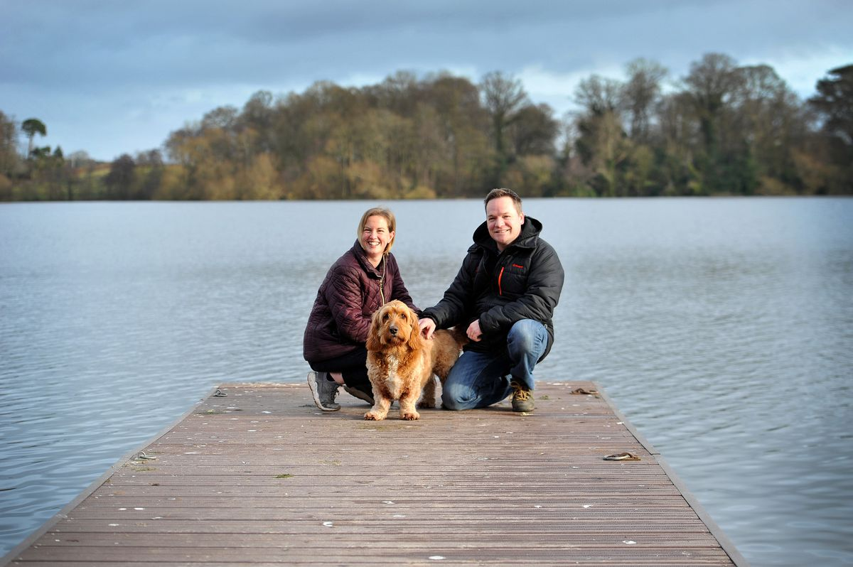 Debbie and Dean Watson with their dog Henry