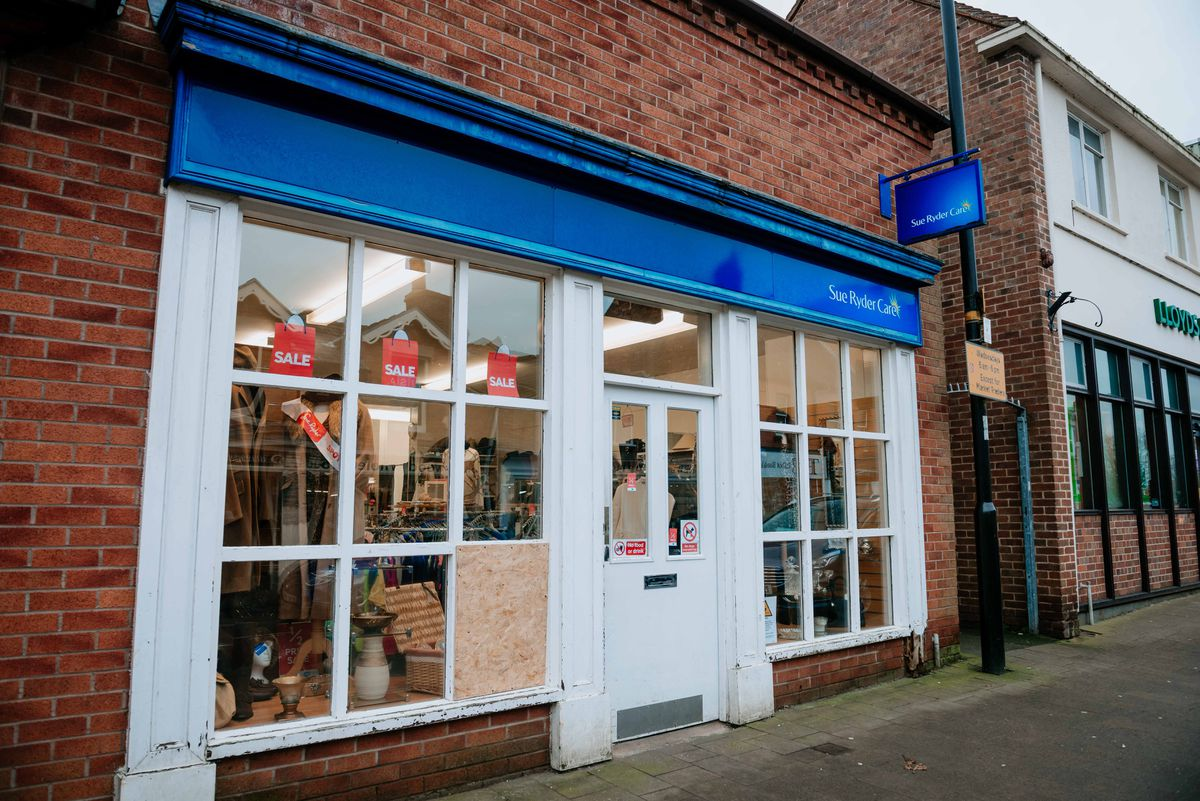 Cash was taken from shops, including Sue Ryder in Market Drayton