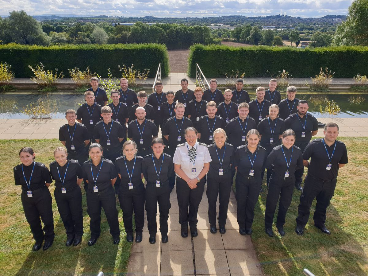 New chief constable Pippa Mills meeting the new recruits