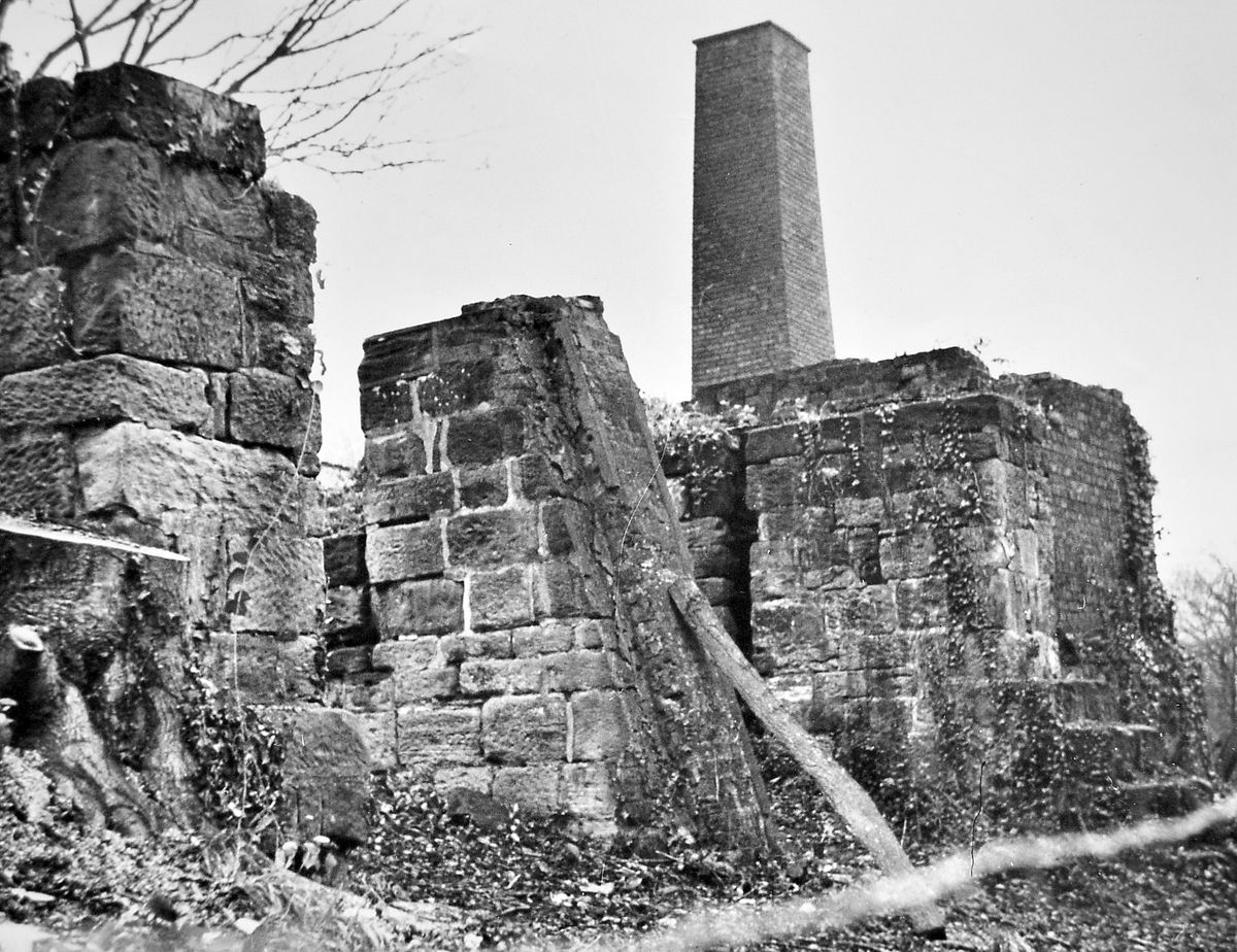 """""""The recently excavated top transfer section of the Coalport Inclined Plane. This shows the boiler house stack in the background,"""" is the caption pasted on the back of this March 1969 print in our archive. It is better known as the Hay Inclined Plane which, like other industrial relics in the Ironbridge Gorge, was being embraced by what was at the time the embryonic Ironbridge Gorge Museum."""