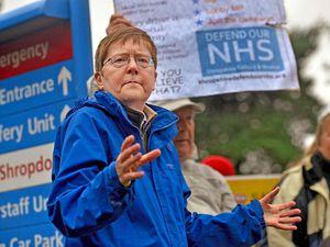 Gill George, chair of Shropshire, Telford & Wrekin Defend Our NHS