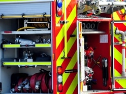 Firefighters tackle car blaze near Oswestry