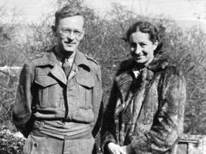nostalgia pic. Shrewsbury. Picture shows David Pocock, later a well known dentist in Shrewsbury, during the war with his wife Beryl Pocock (location of picture unknown, possibly Scarborough). They were married on August 28, 1939, and this photo was taken soon after. He served in the Royal Army Dental Corps. He was a Lieutenant, later Captain. This picture emailed in by son Robin Pocock of Shrawardine Tel. 01743850088. robin.pocock@btinternet.com. ob. 07977 043787 David Pocock was known as Hubert by his parents, but was David to everyone else. He was born in Putney. Beryl's father was a doctor in Scarborough. Robin said: 'My father met my mother in Scarborough, where my father had his first dental surgery and my mother was living with her father, a local doctor, and her mother. They were married on 28th August 1939 and travelled to The Lake District for a fortnight's honeymoon. This was rudely interrupted after one week by the start of the war.  They returned home and my father signed up and was commissioned in the Royal Army Dental Corps.' Library code: Shrewsbury nostalgia 2021..