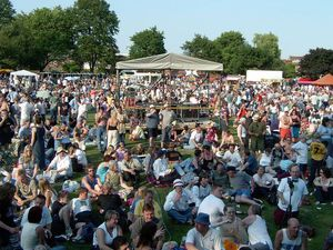 Oswestry's Party in the Park in 2017.