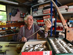 Rex Key is continuing the tradition of clay tobacco pipe-making from his workshop. Picture: Dave Bagnall