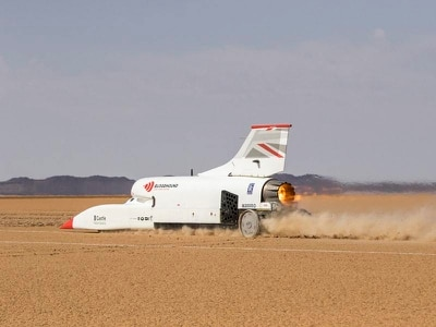 Bloodhound project hits 628mph