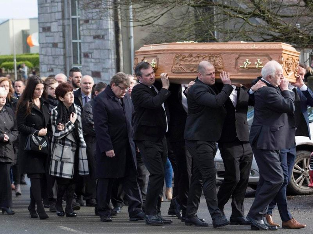 Liam Miller fought cancer with 'ferocity', funeral told