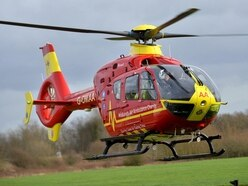 Woman airlifted to hospital after crash closes Telford road