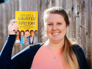 Amy Roberts with the new book