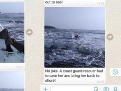This grandmother had to be rescued after floating out to sea on some ice