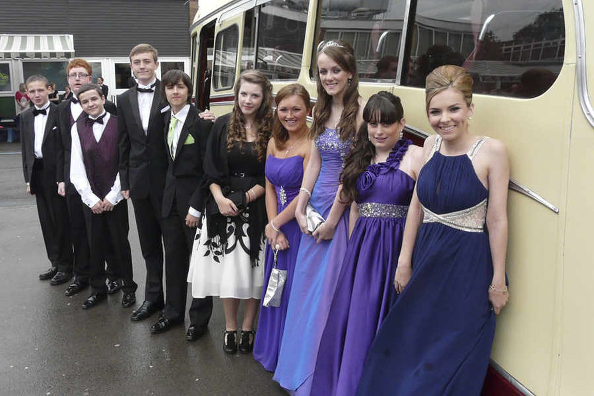 This group from The Grange School hired a vintage bus