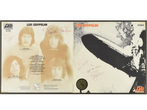Rare, signed Led Zeppelin album is up for auction