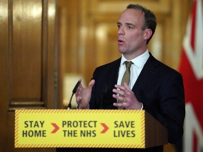 Foreign Secretary Dominic Raab welcomes back stranded Britons