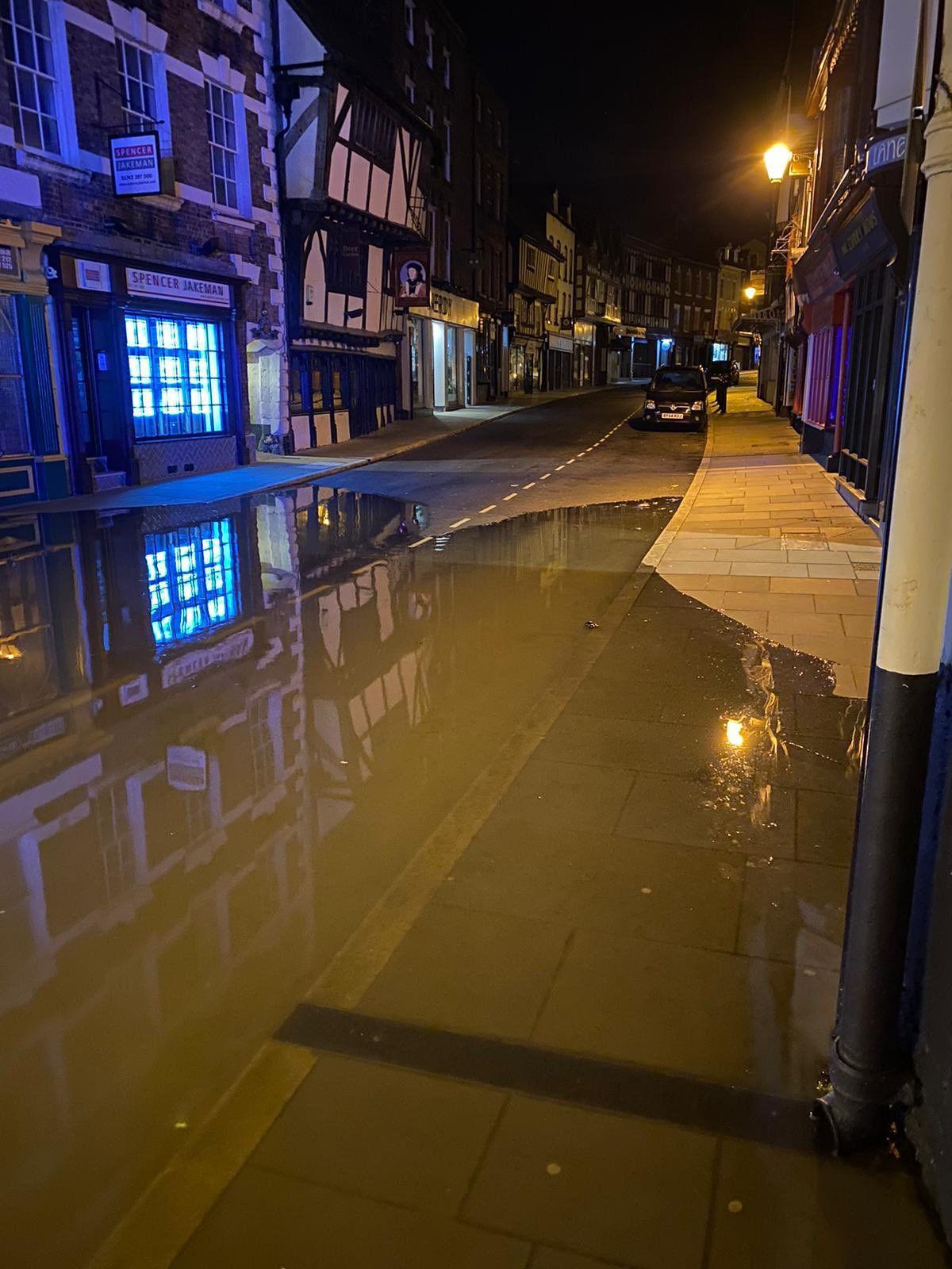 Shrewsbury floods. Pic: Craig Jackson
