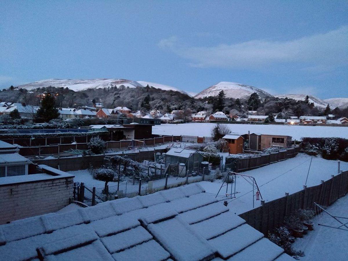 Paul Pearson sent us this snowy scene from Church Stretton