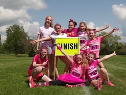 School staff and students Race for Life in Shropshire