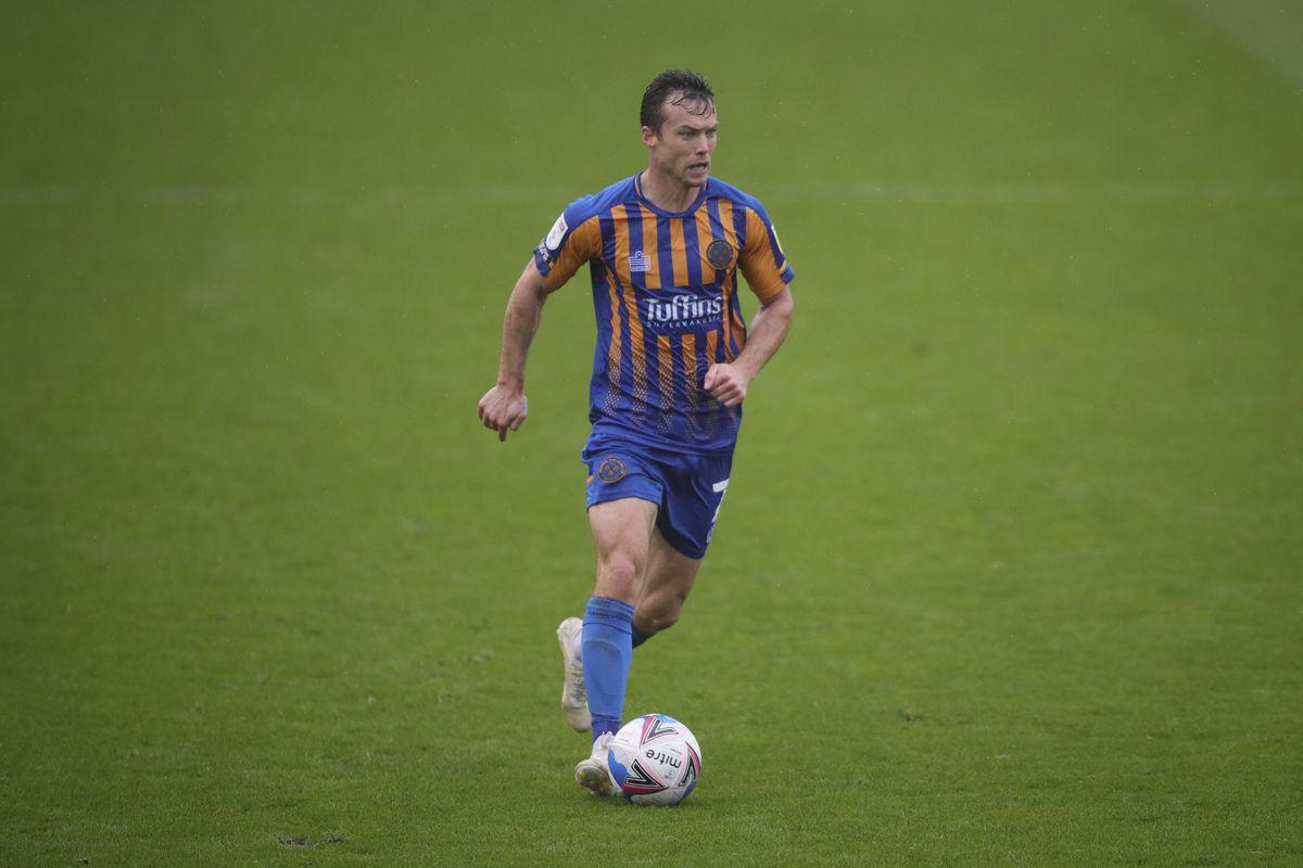 Shaun Whalley of Shrewsbury Town. (AMA)