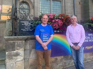 Oswestry Mayor, Councillor Mark Jones and Alan Lewis, 10k organiser