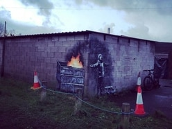'Banksy' artwork referencing steelworks appears in Port Talbot