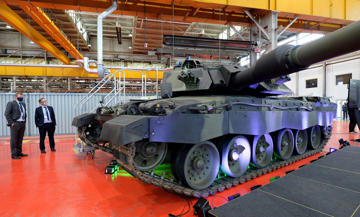 Challenger 3 tank on display at RBSL in Telford