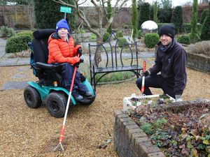 Horticultural student Oliver Burrows and teacher Will Lyon have been busy clearing the WalledGarden ready for spring.