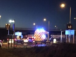 Long rush-hour delays as five-car crash blocks M54