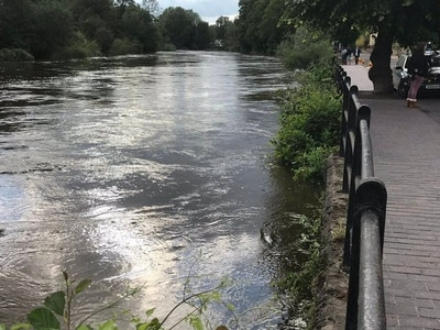 Shropshire river levels dropping but risk of floods remains