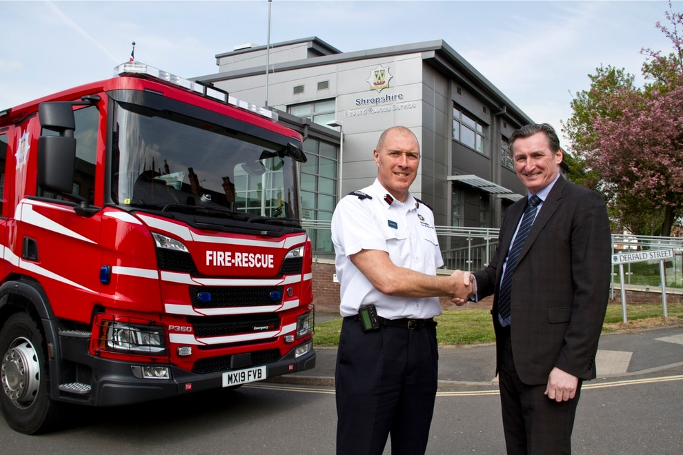 Shropshire blazing a trail with new 'state-of-the-art' fire engines