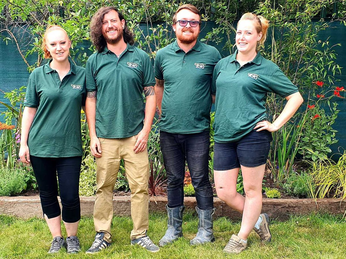 Exotic Zoo team in their new uniform supplied by Myworkwear