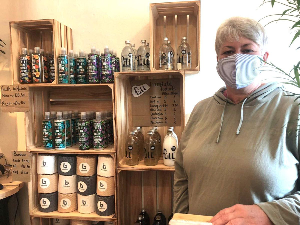 Sam Amery in her new shop