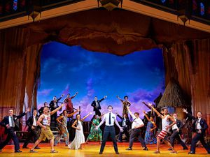 The cast of Book of Mormon at Birmingham Hippodrome