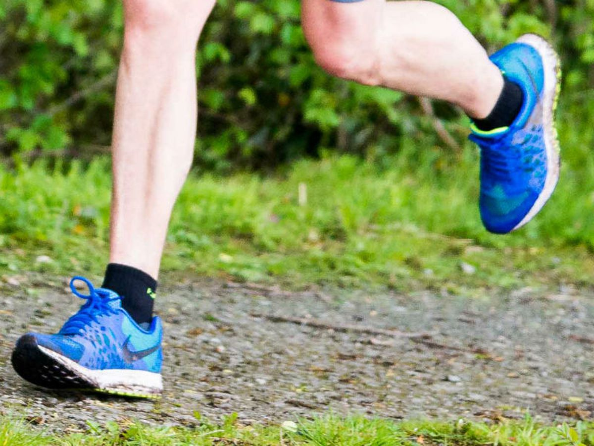 The runner (not in picture) was attacked by a canal in Welshpool