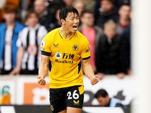 Hee-chan Hwang of Wolverhampton Wanderers celebrates. (Photo by Jack Thomas - WWFC/Wolves via Getty Images).