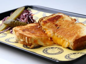 Thick sliced white was laden with a mix of cheeses to give a winning combination of flavour