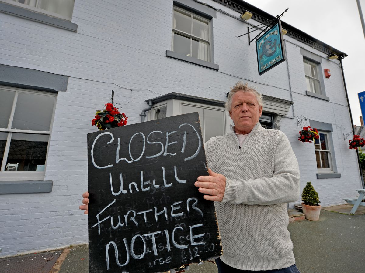 John Turner, landlord at the Dolphin, which has to remain closed for now