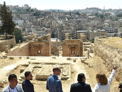 In Pictures: Family history lesson for William amid ancient ruins in Jordan