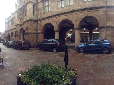 Legal action threat on parking in Shrewsbury Square