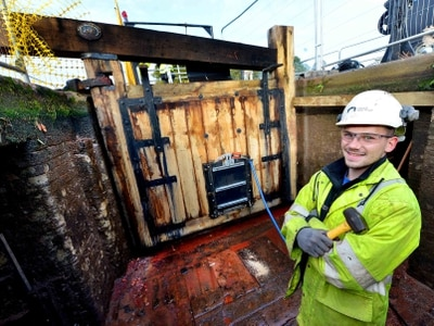 Shropshire canal locks get winter overhaul - with video and pictures