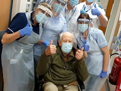 Man aged 101 returns home after hospital treatment for coronavirus