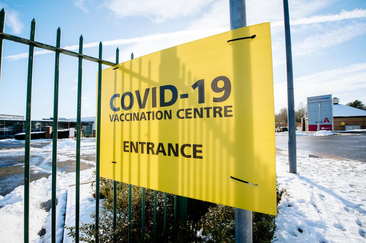 LAST COPYRIGHT SHROPSHIRE STAR JAMIE RICKETTS 25/01/2021 - The Telford International Centre has opened up as a Large Vaccination Site, here for Health and Social workers to begin with..