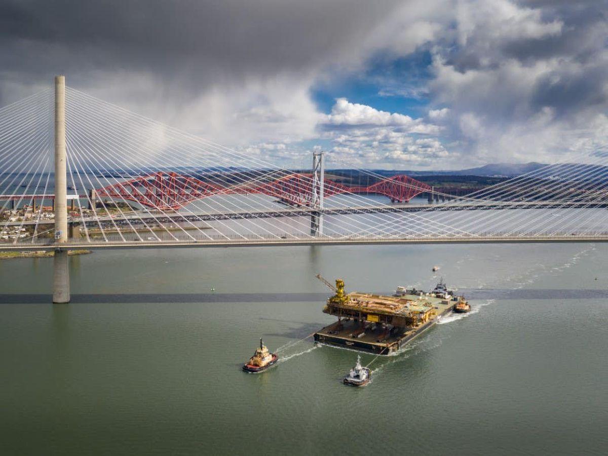 Boats under Forth bridges