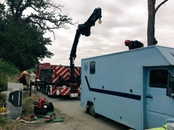 Fire crews called to free trapped horse near Shrewsbury