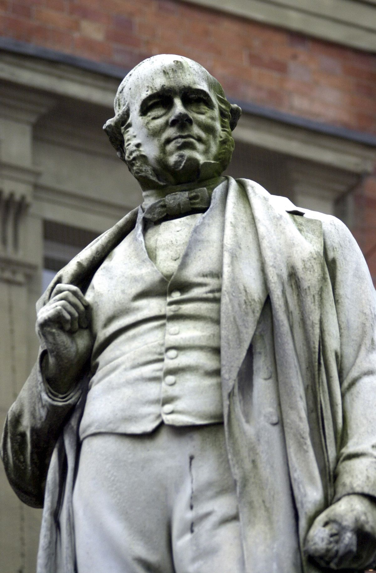 The statue of Rowland Hill outside Kidderminster Town Hall