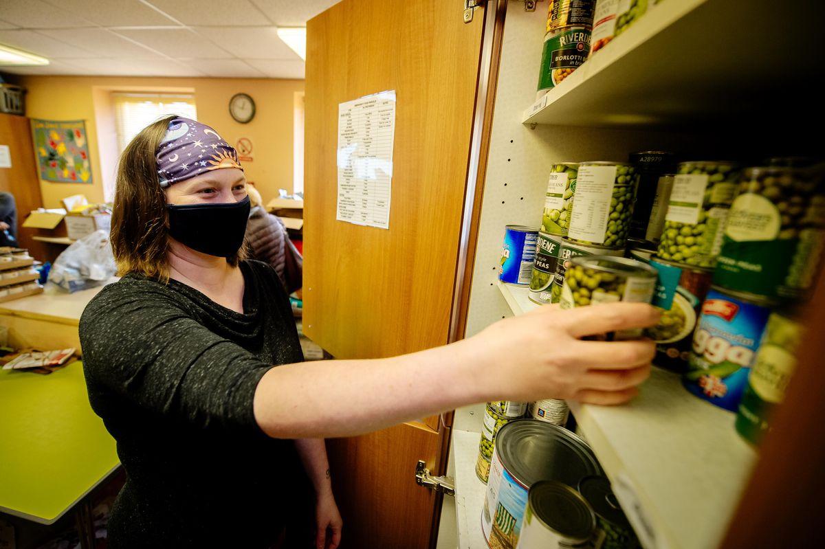 Volunteer Lucy Lewis of Ludlow Food Bank