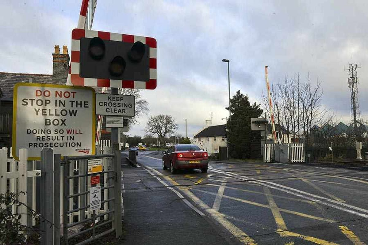 The level crossing at Harlescott in Shrewsbury which could be replaced by a footbridge and closed to traffic