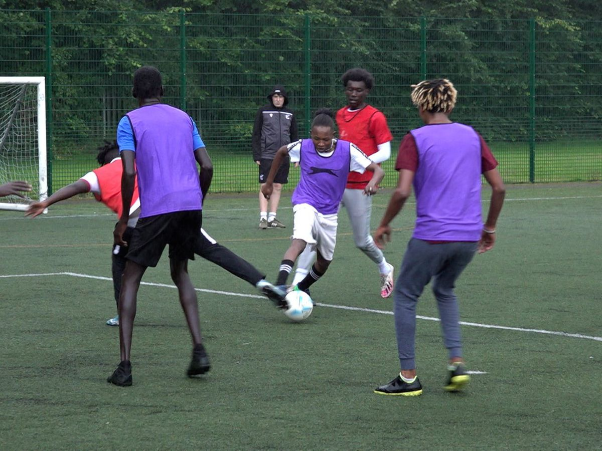 Scunthorpe United Community Trust's coaching programme for refugees was hugely successful